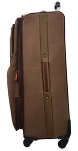 Western Canvas Large Wheeled Roller Luggage