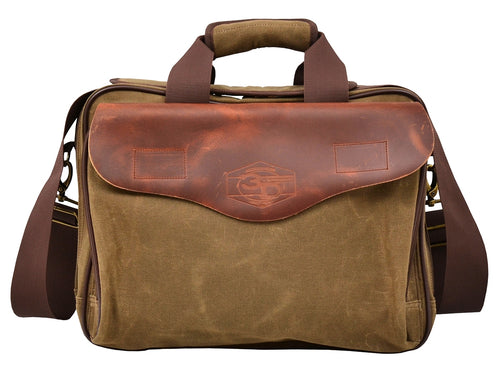 Western Oiled Waxy Canvas Messenger Bag Briefcase