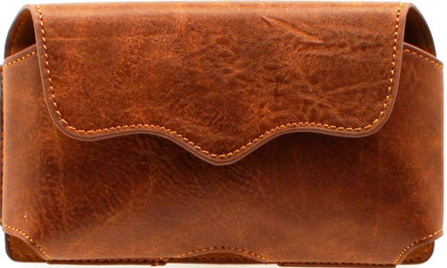 Western Classic Large Distressed Leather Cell Phone Holder for iPhone 6/78 Plus