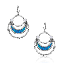 Load image into Gallery viewer, River of Lights Half Basket Earrings