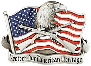 Protect Our American Heritage Belt Buckle