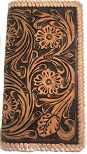 Load image into Gallery viewer, Tan Tooled Leather Rodeo Wallet