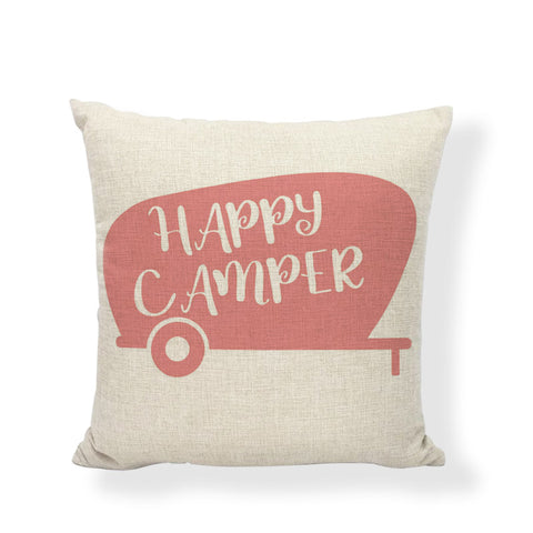 """Happy Camper 2"" Accent Pillow 18"" x 18"""