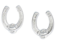 Load image into Gallery viewer, Horseshoe Earrings with Cowboy Hat Gift Box
