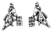 Load image into Gallery viewer, Barrel Racer Earrings with Cowboy Hat Gift Box