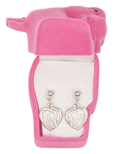 Horse Head Earrings with Horse Head Gift Box