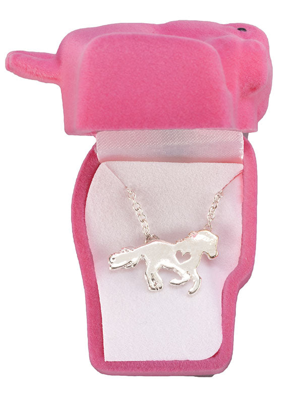 Horse Necklace and Horse Head Gift Box