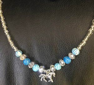 """Prancing Horse"" Western Necklace"
