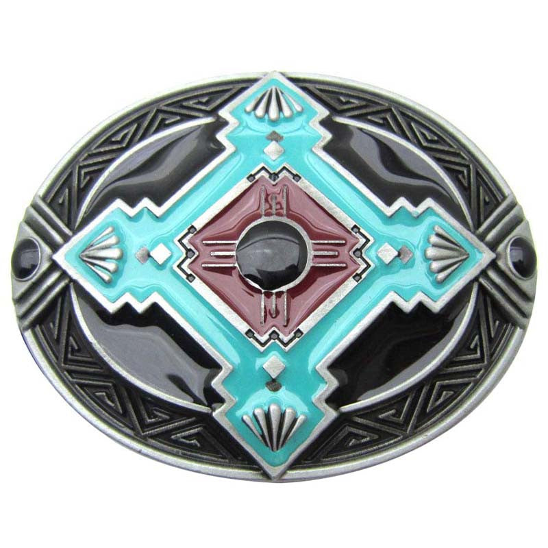 Southwestern Metal Belt Buckle