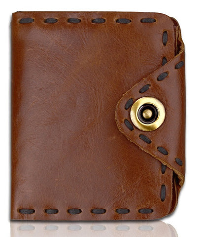 Genuine Distressed Leather Western Bi-Fold Wallet
