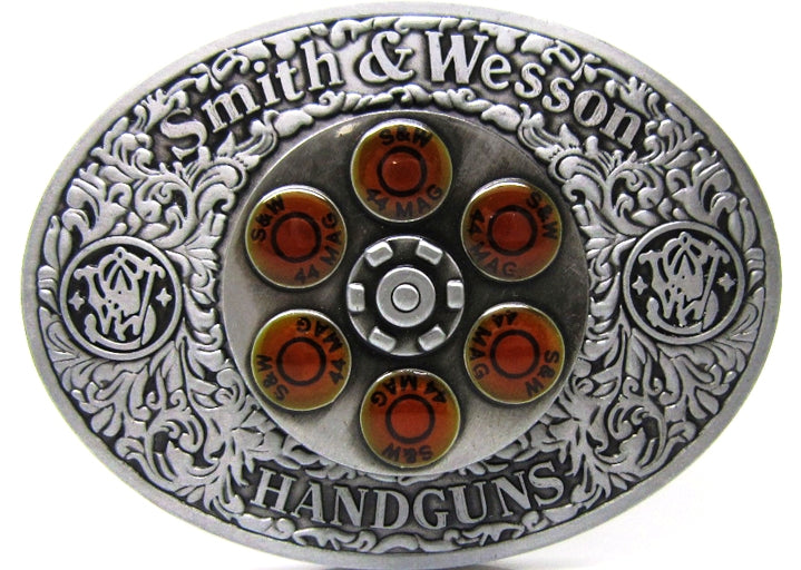 Smith & Wesson 44MAG Spinner Western Belt Buckle
