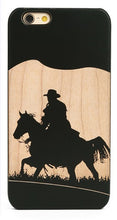 Load image into Gallery viewer, Western Cowboy on Wood Cell Phone Case for iPhone 6/7+