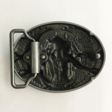 Load image into Gallery viewer, Warrior Pewter Metal Belt Buckle
