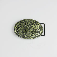 Load image into Gallery viewer, Western Floral Metal Belt Buckle