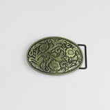 Western Floral Metal Belt Buckle