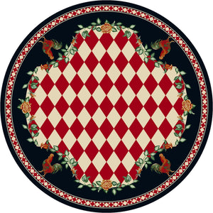 """High Country Rooster - Natural/Red"" Southwestern Area Rugs - Choose from 6 Sizes!"