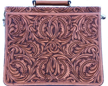 Load image into Gallery viewer, Western Natural Tooled Briefcase/Laptop Bag