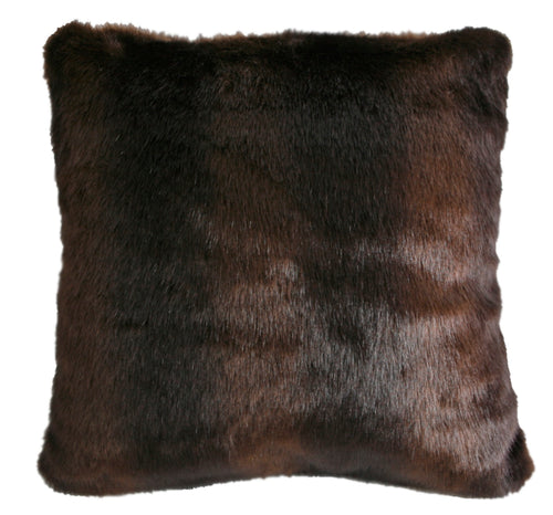 Adirondack Brown Bear Fur Pillow - 18