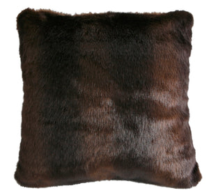 Adirondack Brown Bear Fur Pillow - 18""