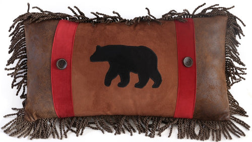 Backwoods Rambling Bear Pillow