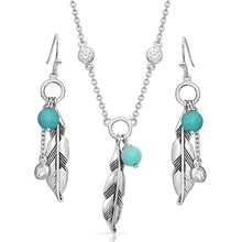 Load image into Gallery viewer, Charming Feather Turquoise Jewelry Set