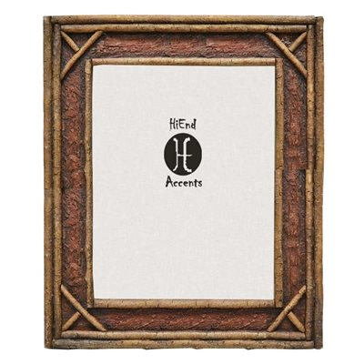 Faux Birch Twig Adirondack Photo Frame - Choose From 2 Sizes!