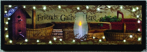 """Friends Gather Here"" Lighten Canvas Art"