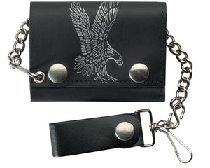 Flying Eagle Leather Trifold Wallet