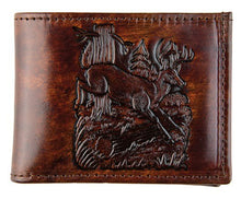 Load image into Gallery viewer, Brown Leather Billfold - Made in USA - Deer