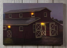 Lighted Horse Barn Canvas