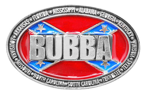 """Bubba"" Rebel Flag Belt Buckle (Made In The USA)"