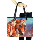 Western Horse Art Canvas Tote - Laura Prindle Collection