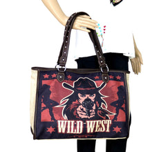 Load image into Gallery viewer, Wild Wild West Painting Canvas Tote Bag - Tan