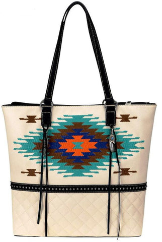 Aztec Embroidered Tote