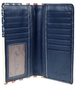 Genuine Leather Patriotic Men's Rodeo Wallet