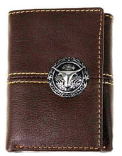 Load image into Gallery viewer, Western Tri-Fold Wallet with Longhorn Concho - 3 Colors Available!
