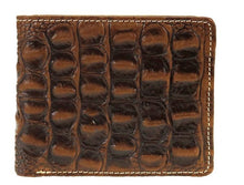 Load image into Gallery viewer, Leather Hornback Alligator Men's Bi-Fold Wallet - Choose From 3 Colors!