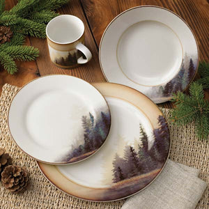 Misty Forest 16-Piece Dinnerware Set