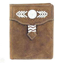 Load image into Gallery viewer, Nocona Western Bi-Fold Wallet With Concho
