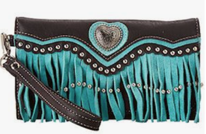Ladies' Blazin Roxx Turquoise Wallet with Heart Concho