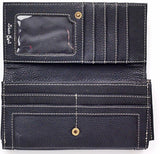 """Claire"" Black Ladies' Wallet with  Nail Head Arrow"