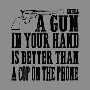 """Gun in Hand"" Western No Bull T-Shirt"