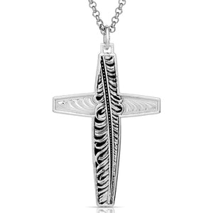Western Feather Cross Necklace