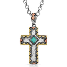 Load image into Gallery viewer, Antiqued Cross Necklace