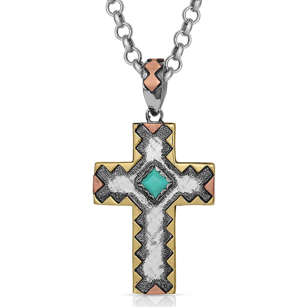 Antiqued Cross Necklace
