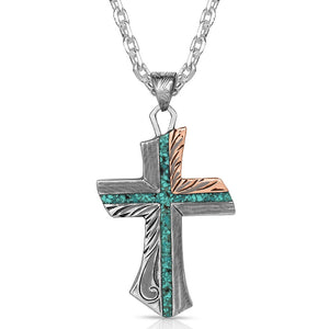 Western Light Opal Cross Necklace