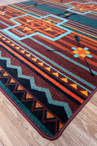 """Brazos - Sunset"" Western Area Rugs - Choose from 6 Sizes!"