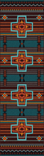 "Load image into Gallery viewer, ""Brazos - Sunset"" Western Area Rugs - Choose from 6 Sizes!"