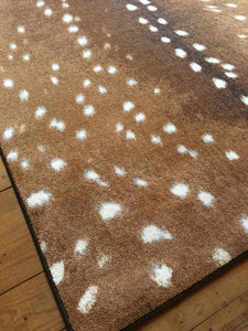 """Spotted Hide - Sienna"" Western Area Rugs - Choose from 6 Sizes!"