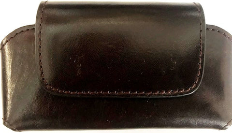 Western Brown Leather Cell Phone Holder for Phones up to 5-1/4""